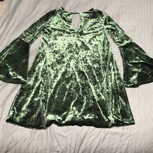 Green velvet dress from Ana brand